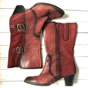 Earth Larch Bordeaux Leather Boot 8.5